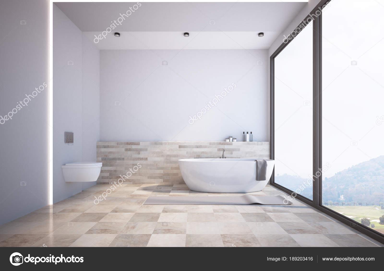 Panoramisch witte badkamer een toilet u2014 stockfoto © denisismagilov