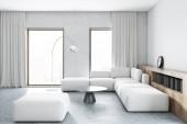 Divano del soggiorno, bianco bianco del mattone