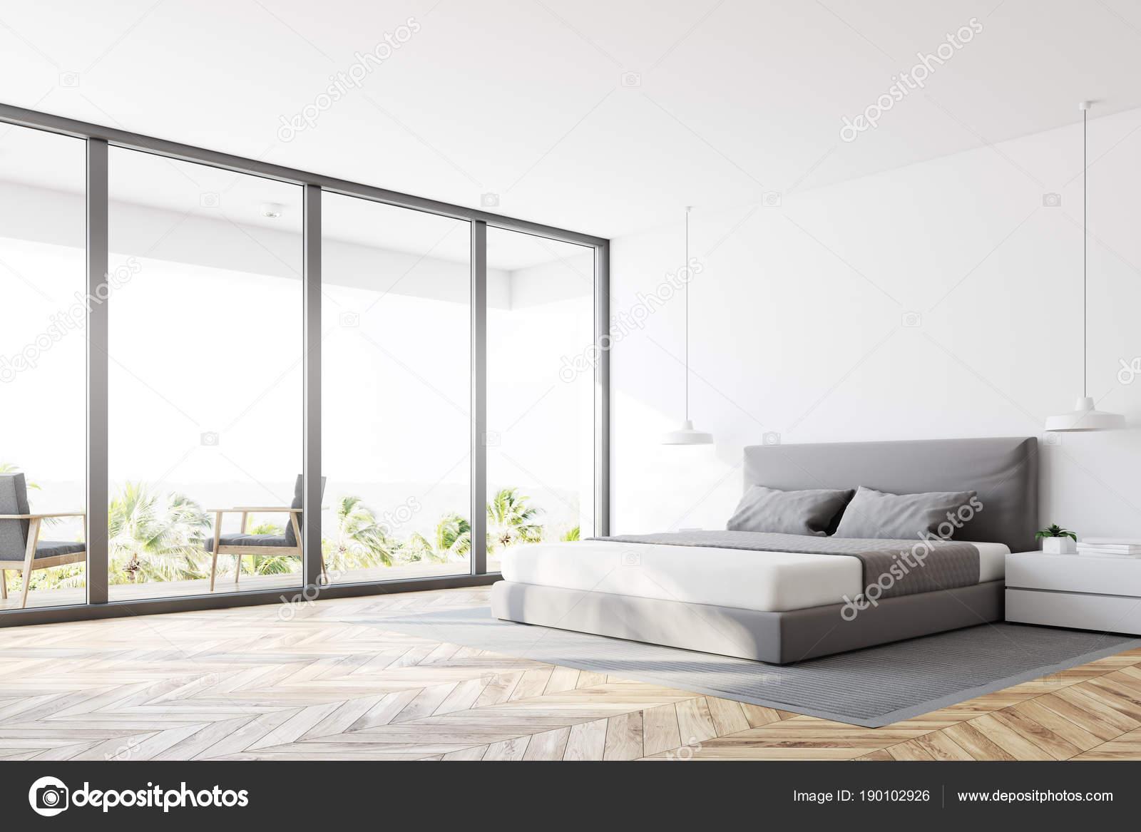 coin chambre panoramique blanc — photographie denisismagilov