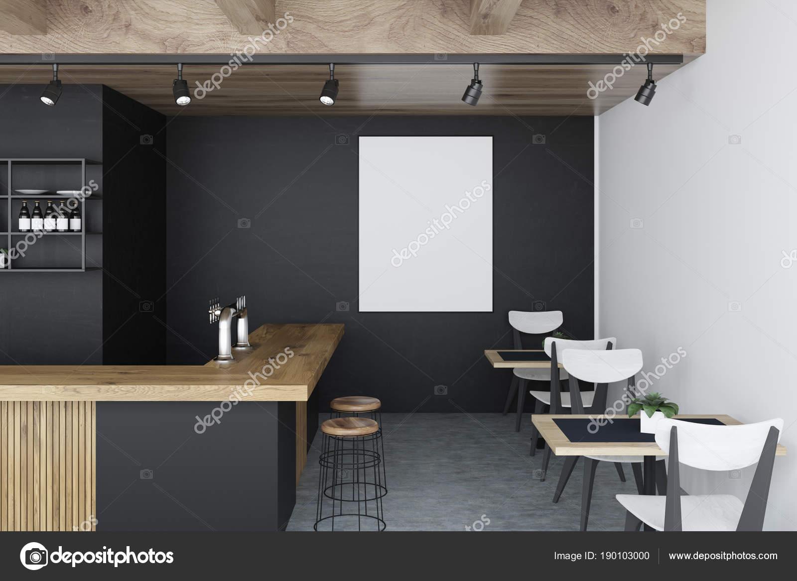 Schwarze Wand bar Interieur, Plakat — Stockfoto © denisismagilov ...
