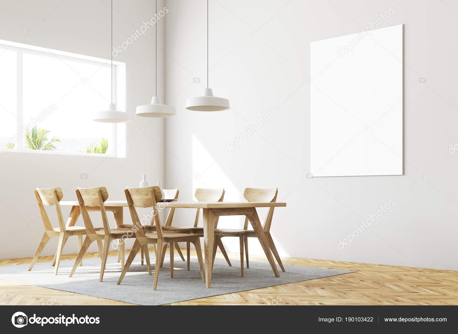 Witte eetkamer hoek, poster — Stockfoto © denisismagilov #190103422