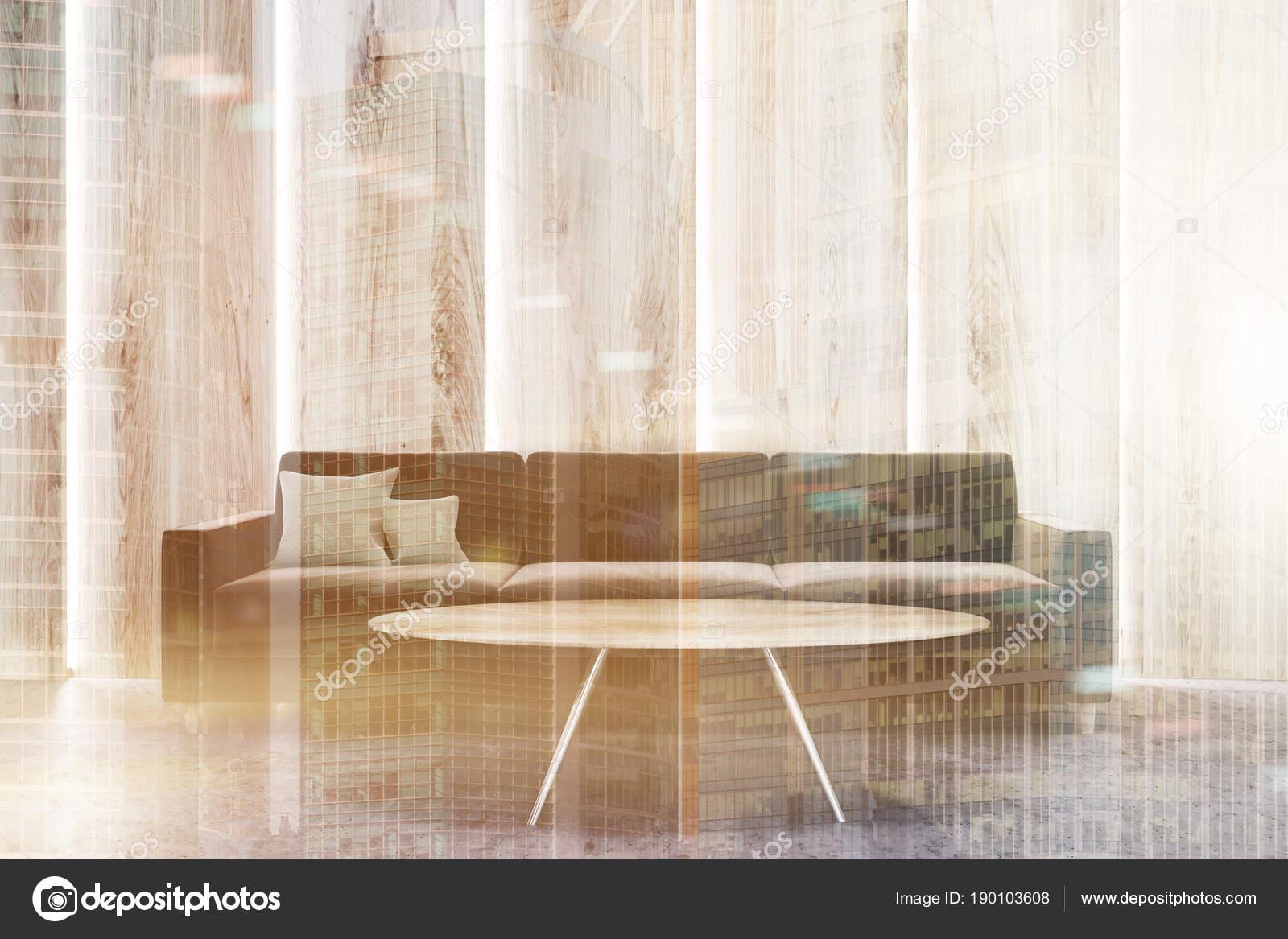 Gaas Het Interieur : Luxe houten muren woonkamer interieur toned u2014 stockfoto