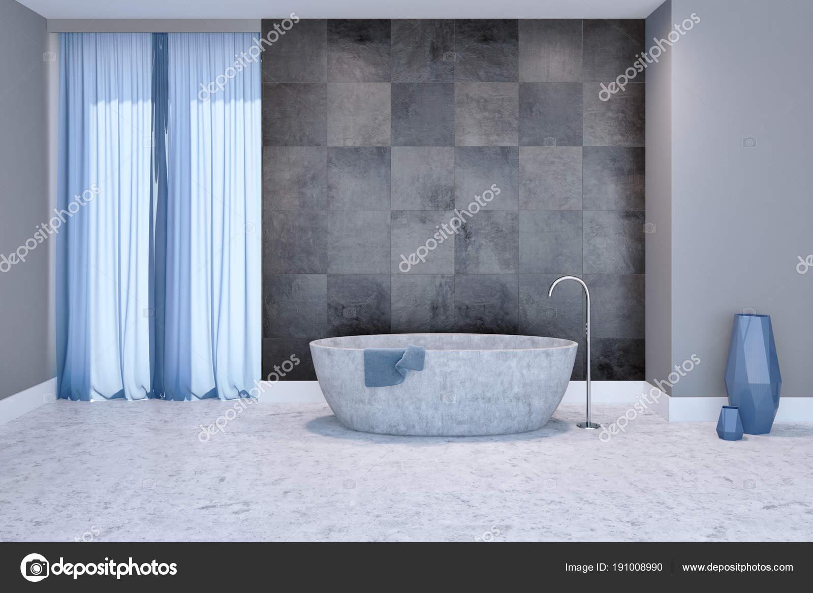 Modernes Badezimmer Interieur, graue Wanne — Stockfoto ...