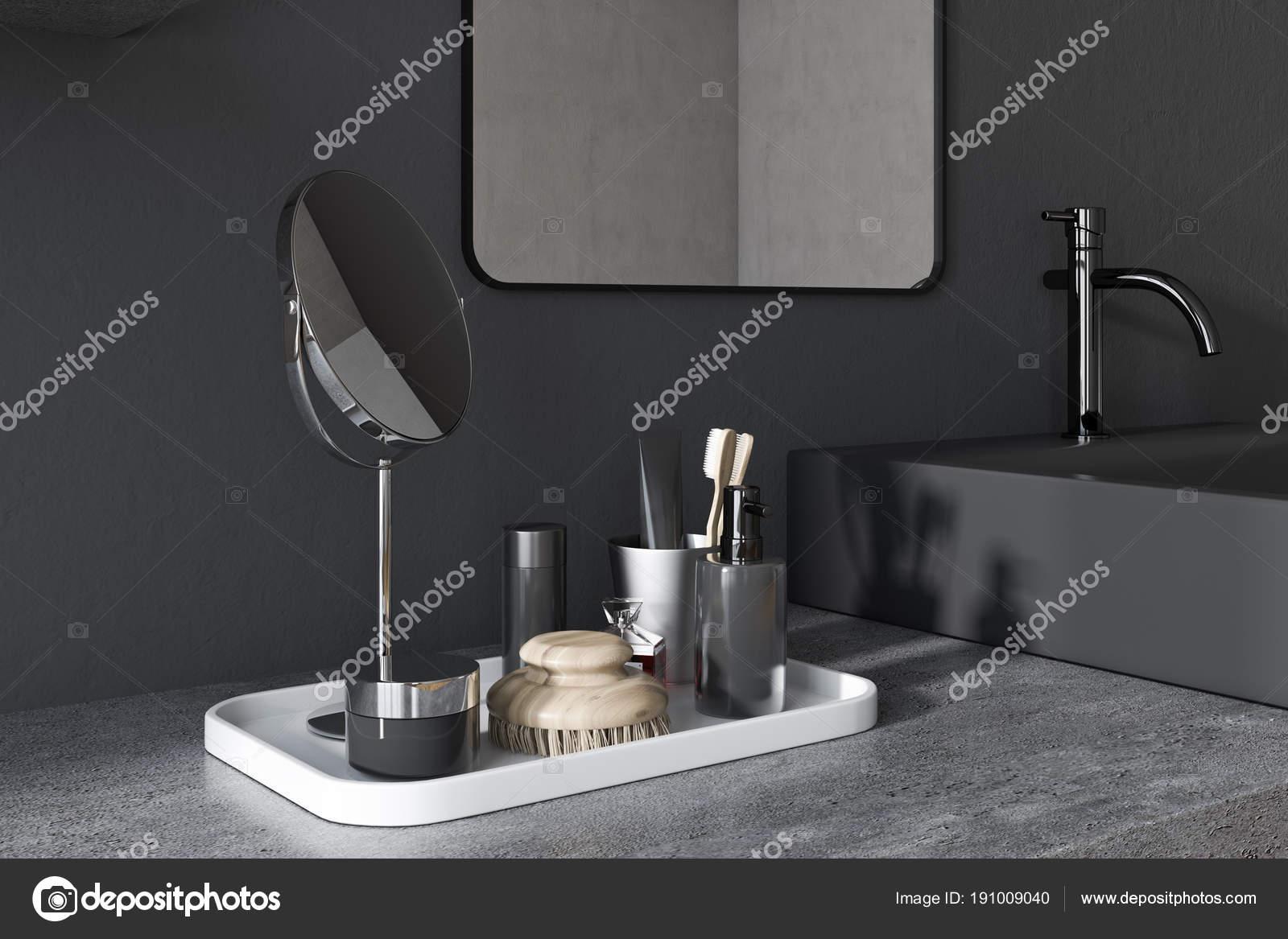 Zwarte vierkante badkamer wastafel hoek u2014 stockfoto © denisismagilov