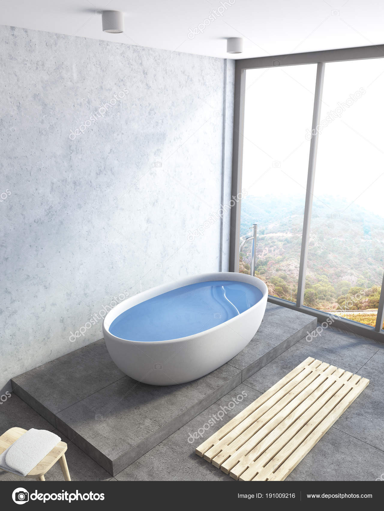 Esquina del moderno cuarto de baño, bañera completo — Fotos ...