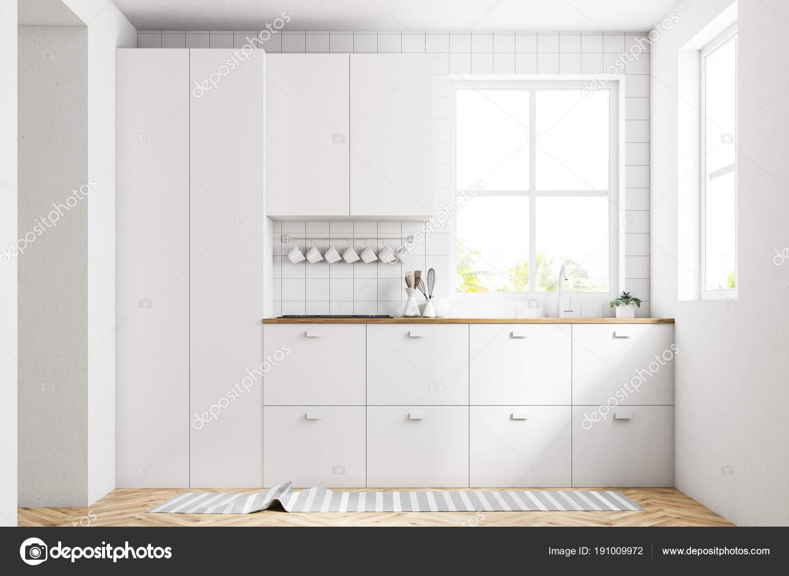 Weiße Interieur, Küchenarbeitsplatten — Stockfoto © denisismagilov ...