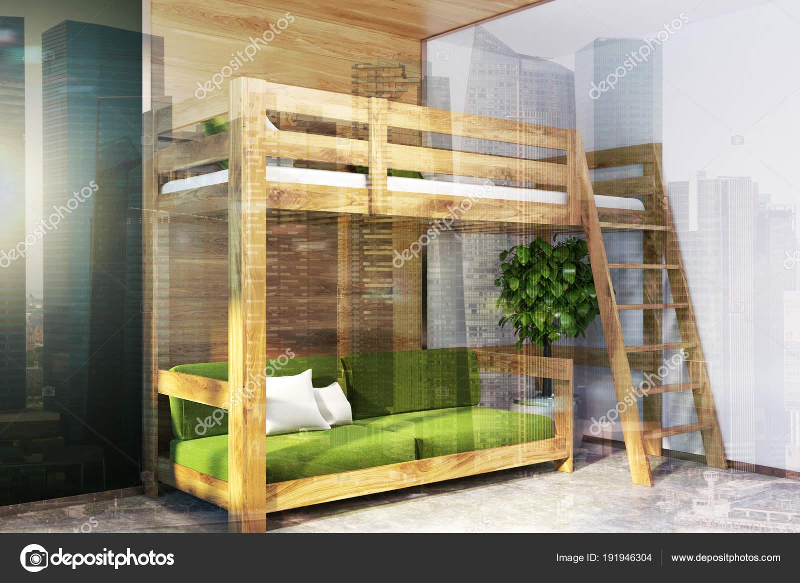Camera Da Letto Verde E Nera : Letto a soppalco camera da letto nera angolo verde tonica u foto