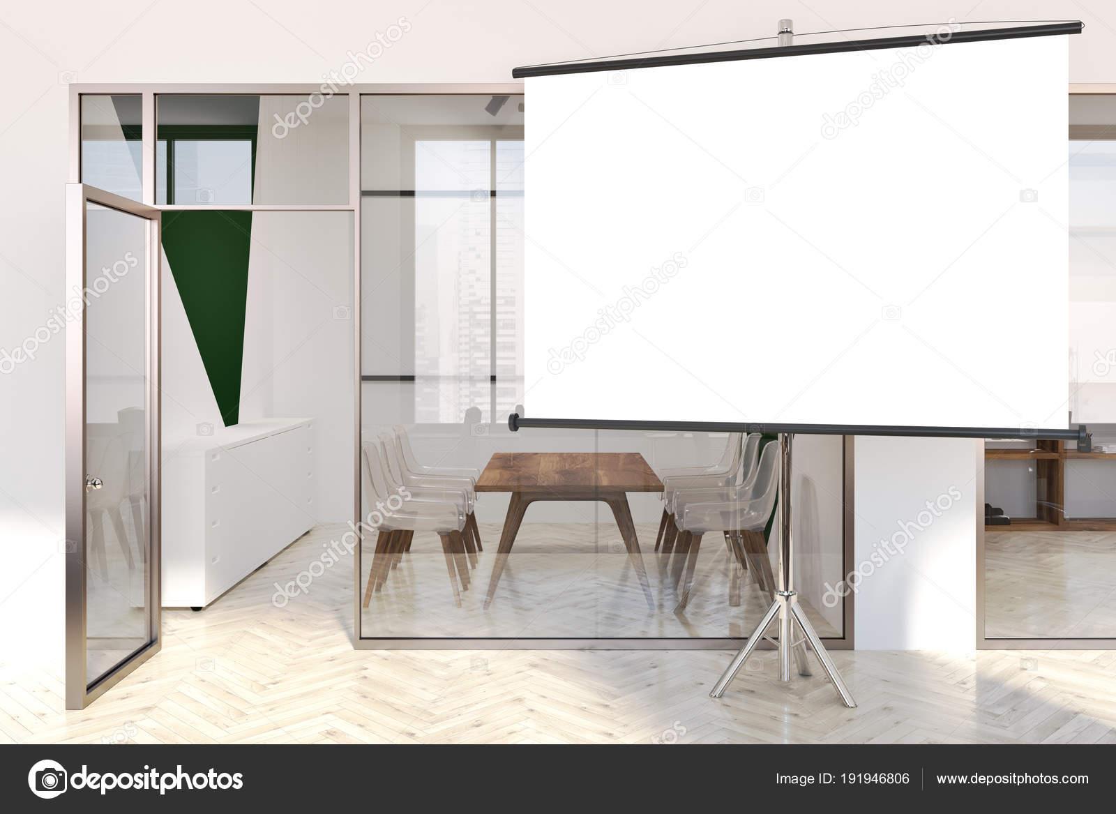 Hall dentrée bureau moderne blanc et vert mock up u2014 photographie