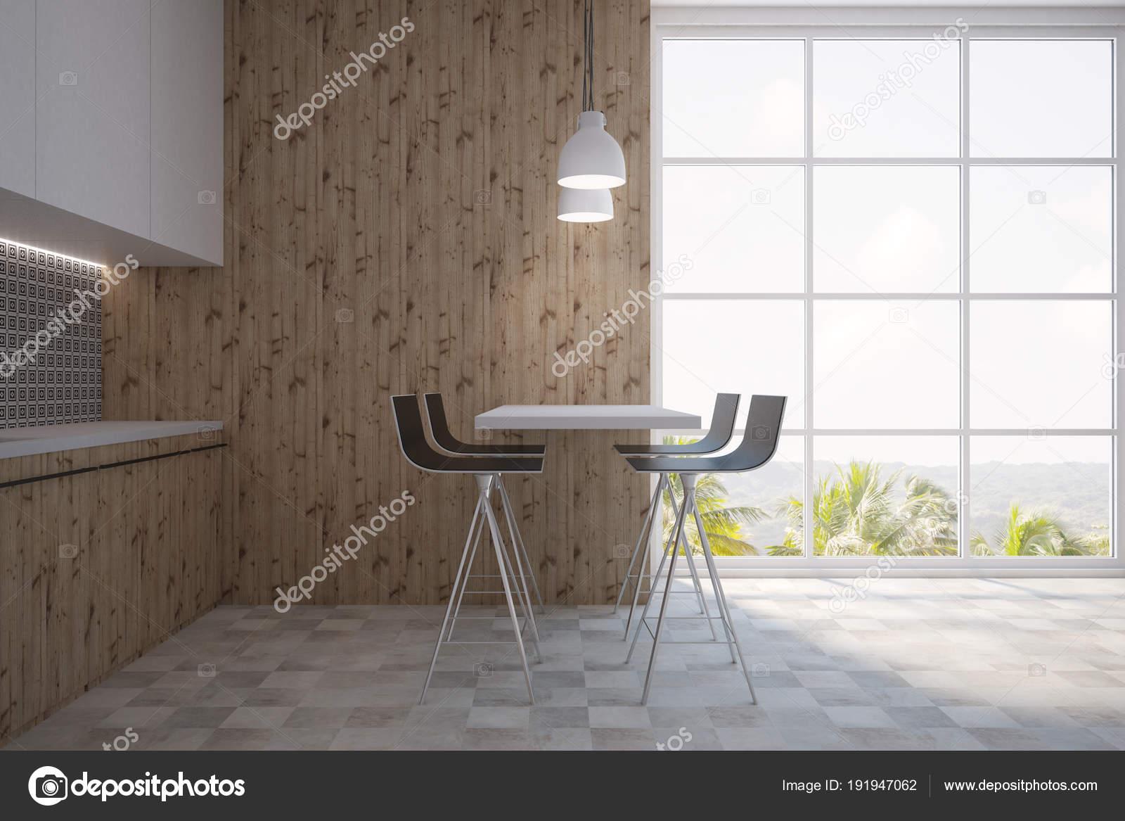 Keuken Bar Muur : Grijze muur patroon keuken en een bar u stockfoto denisismagilov