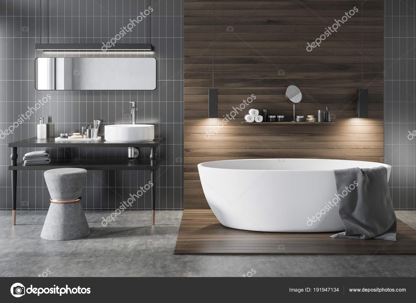 Bagno Legno E Grigio : Bagno di lusso in legno e grigio u2014 foto stock © denisismagilov