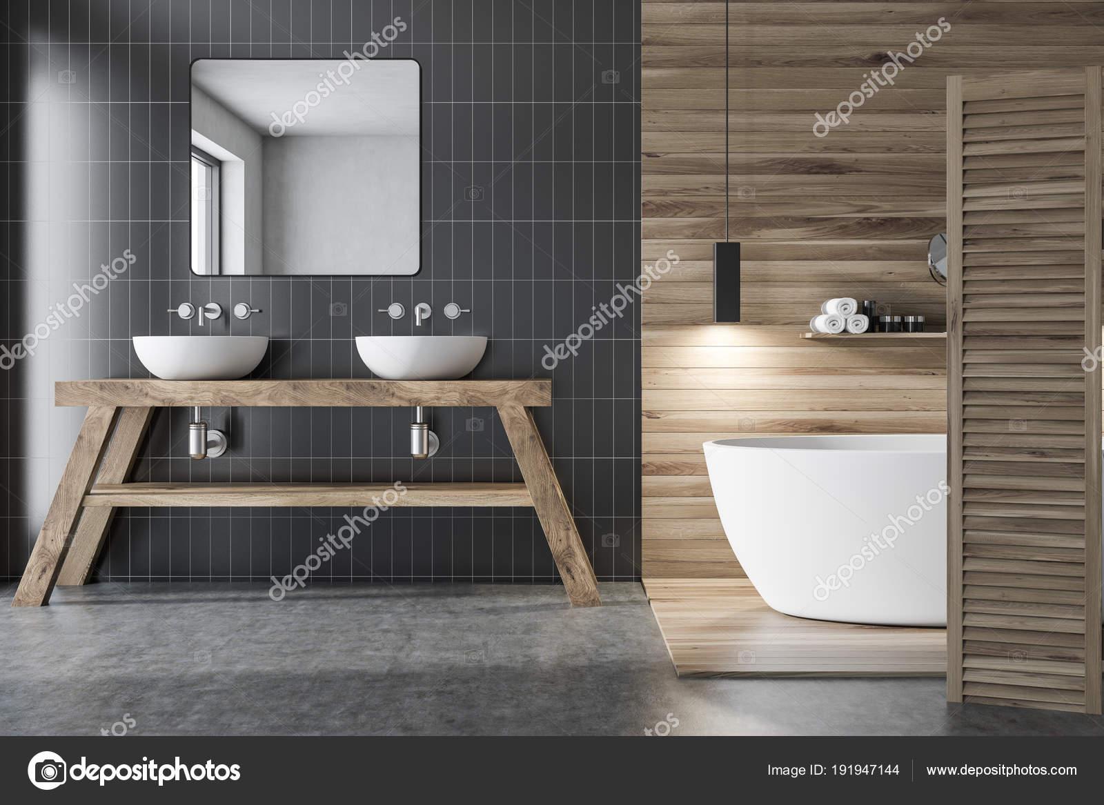 Bagno Legno E Grigio : Bagno grigio e legno u2014 foto stock © denisismagilov #191947144
