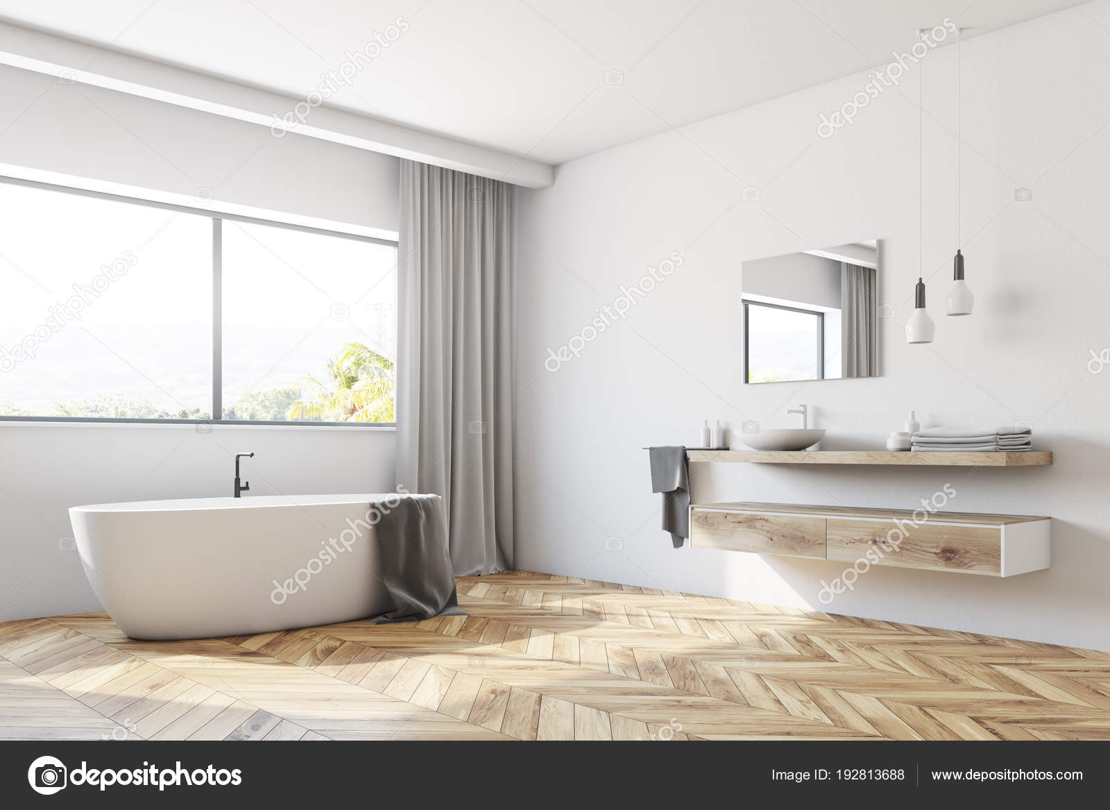 Moderne Witte Badkamer : Moderne witte badkamer hoek u2014 stockfoto © denisismagilov #192813688
