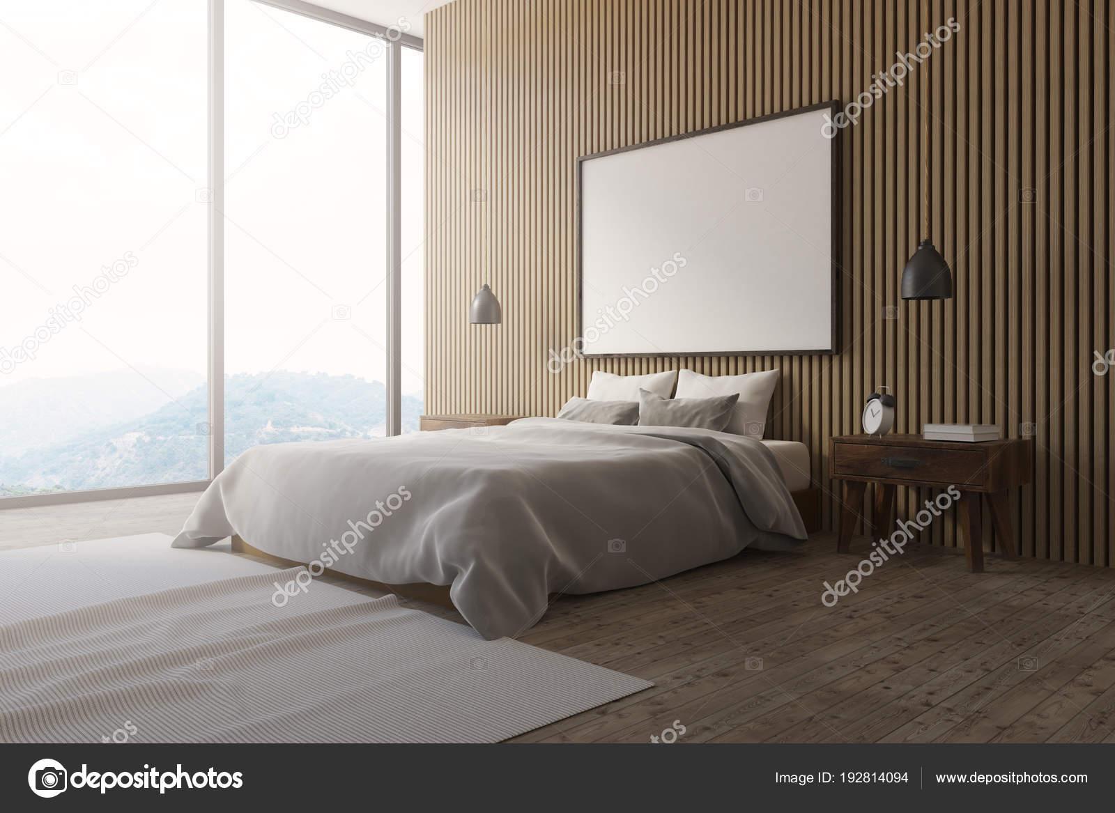 Camera Da Letto Matrimoniale Soppalco : Parete in legno soppalco camera da letto poster interni vista
