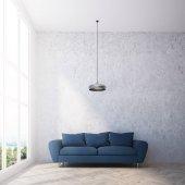 Interiér panoramatické obývacího pokoje