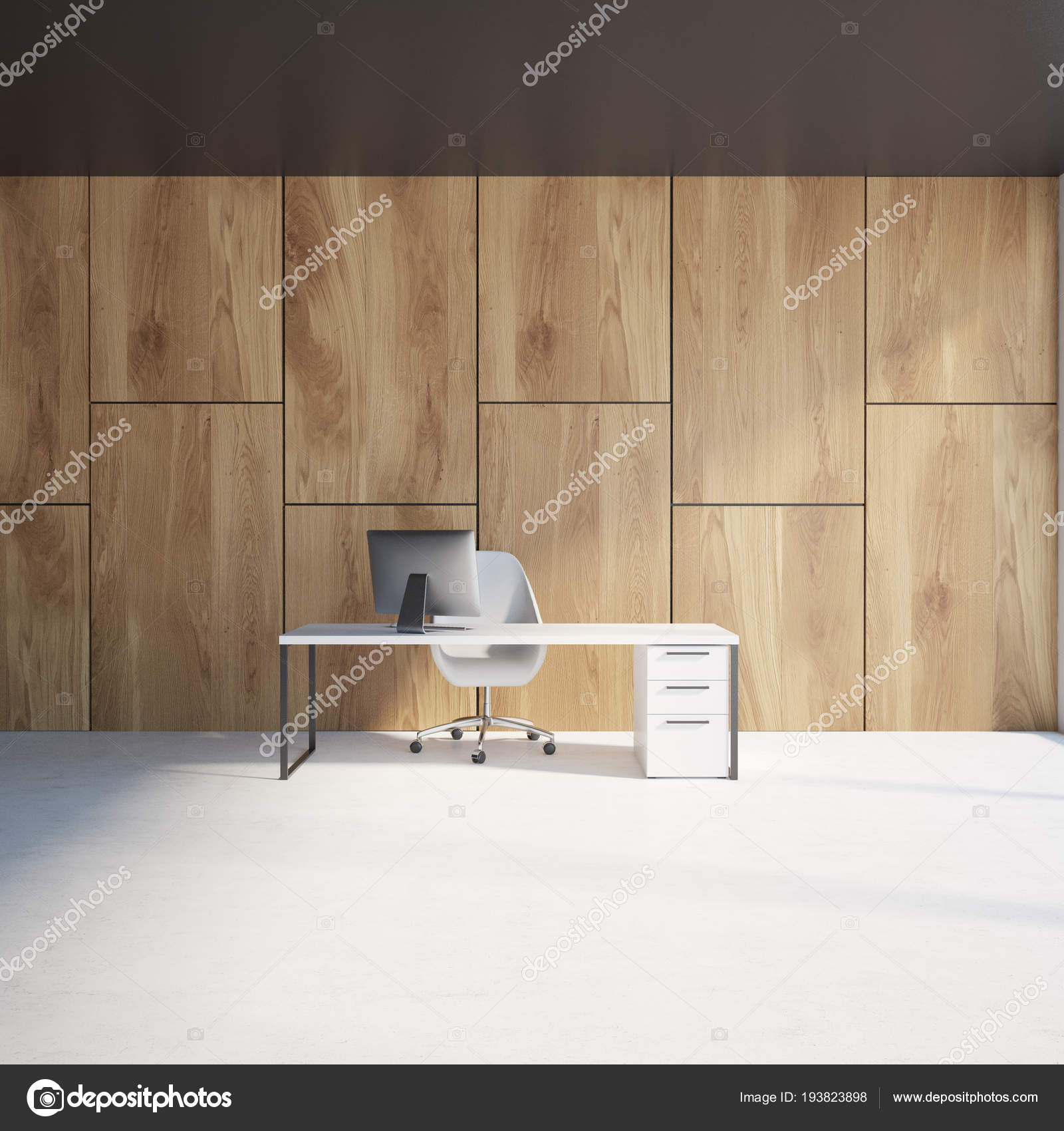 Luxury ceo office | Wooden Wall Luxury Ceo Office Interior ...