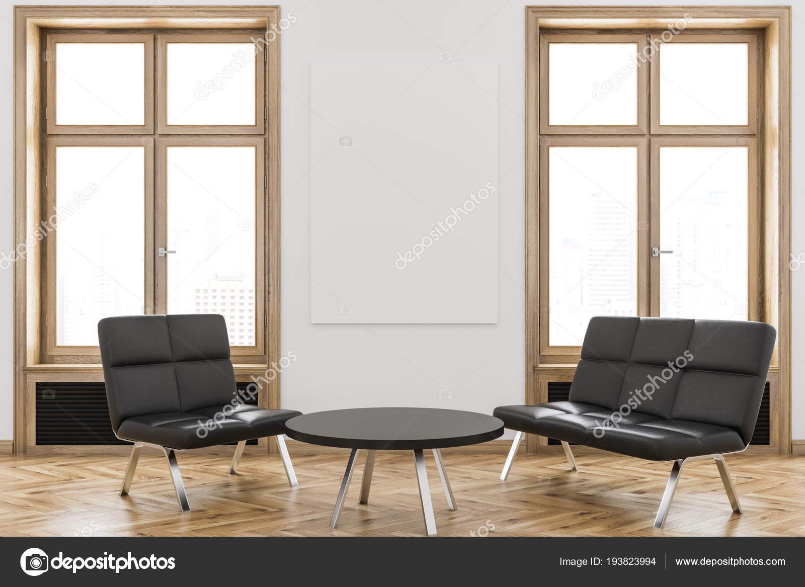 Ufficio Divano Nero : Area attesa divano nero ufficio albergo una clinica con pareti