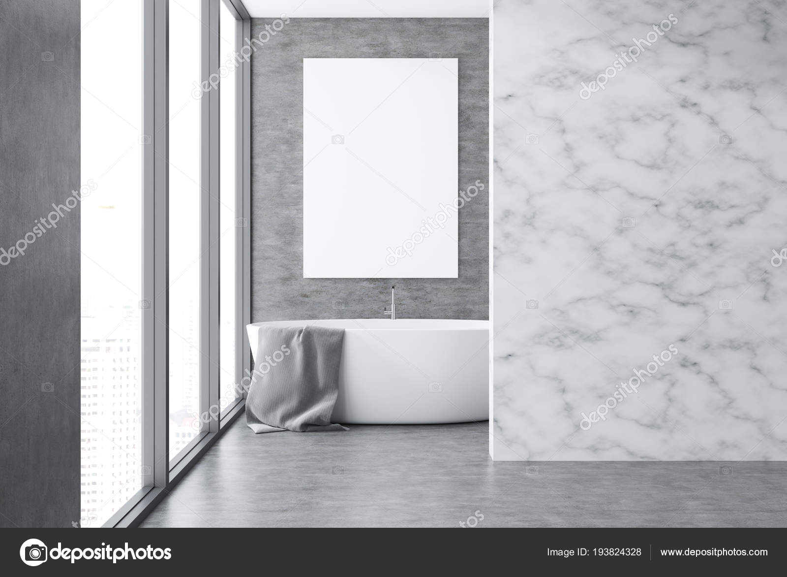 Brilliant Concrete Marble Wall Bathroom Interior Concrete Floor Loft Download Free Architecture Designs Lukepmadebymaigaardcom