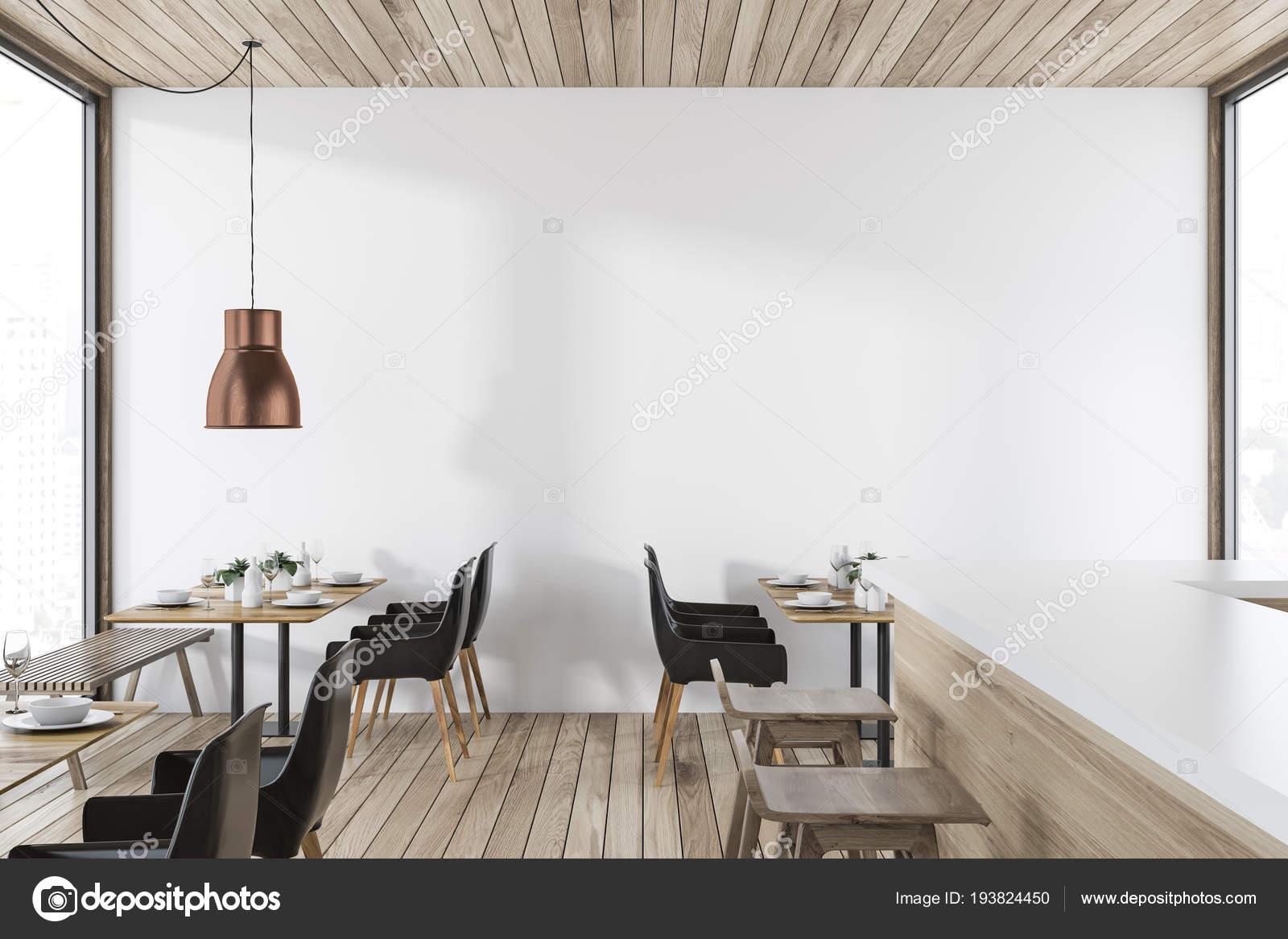 Swell Luxury Loft Restaurant Interior Wooden Floor White Walls Set Ibusinesslaw Wood Chair Design Ideas Ibusinesslaworg