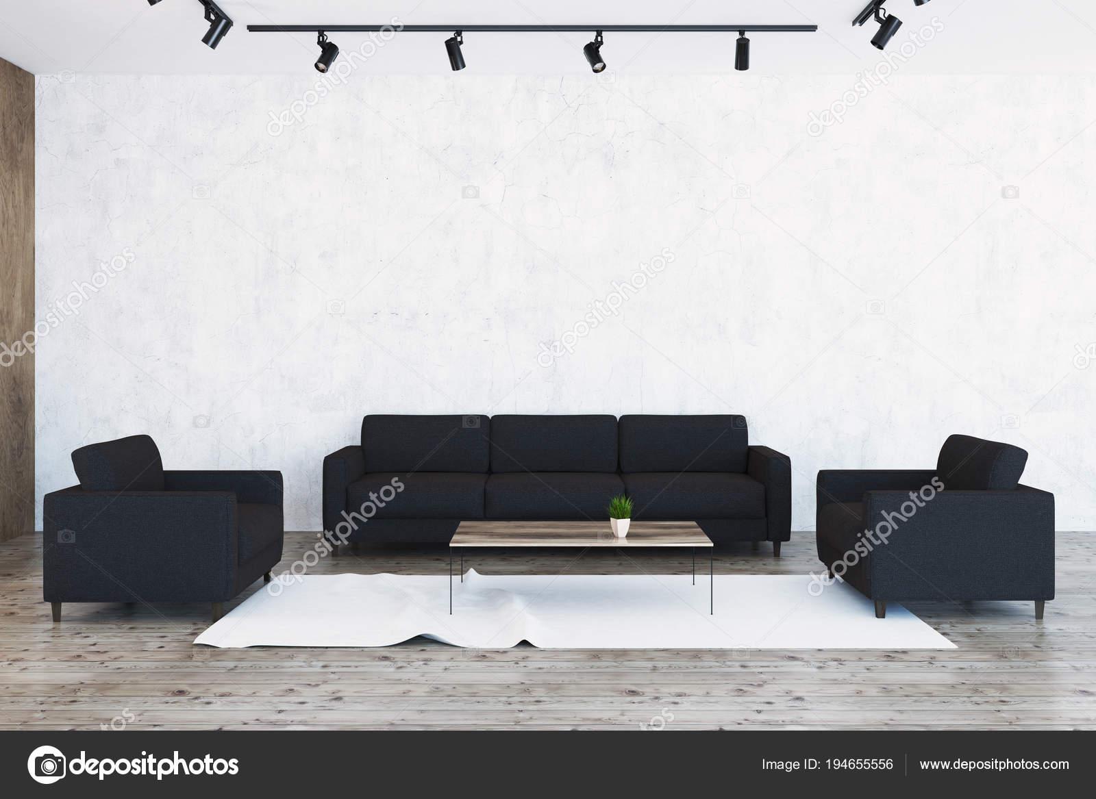 Woonkamer Met Beton : Beton woonkamer zwarte fauteuils sofa u2014 stockfoto © denisismagilov