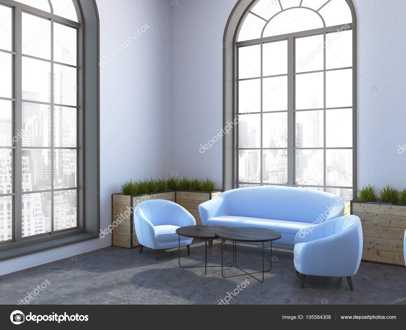Eco angolo caffetteria in stile, Divani e poltrone blu ...
