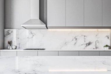 Marble kitchen gray countertops blur
