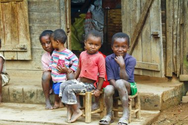 TOMAASINA, MADAGASCAR - August 2014: Unknown african children la