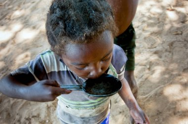 Poor african child, Madagascar