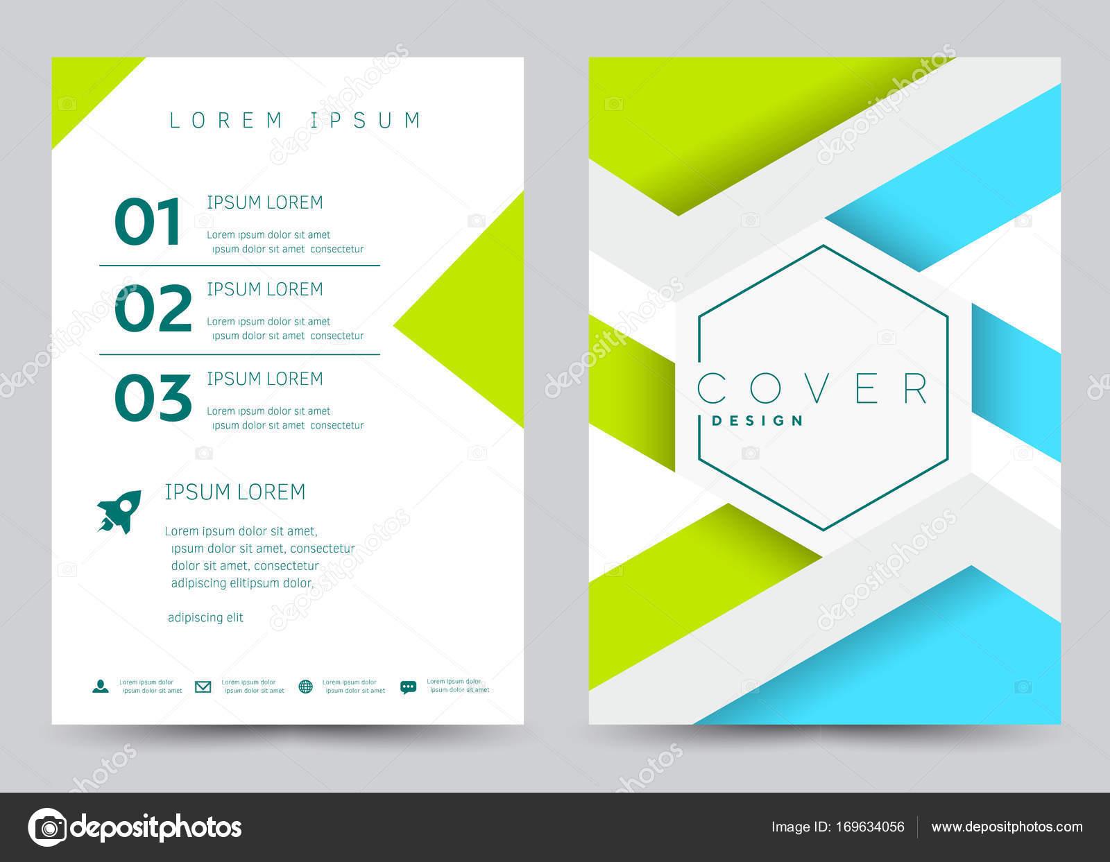 Cover Design Vector template set Brochure, Annual Report, Magazine ...