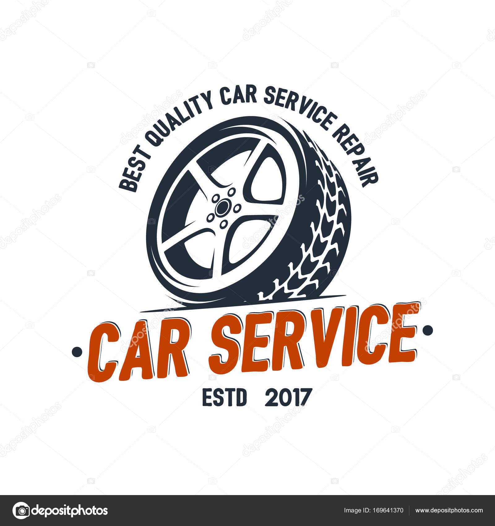 Car Service Wheel Logo Emblem Design Vector Vector Image By C Nazim Absemetov Vector Stock 169641370