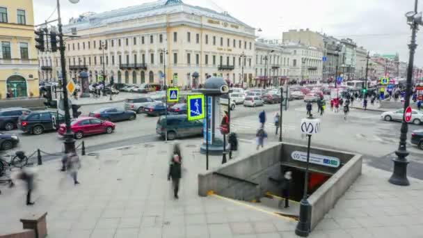 St. Petersburg. Nevskiy Prospekt. laps.11.04.2017 idő