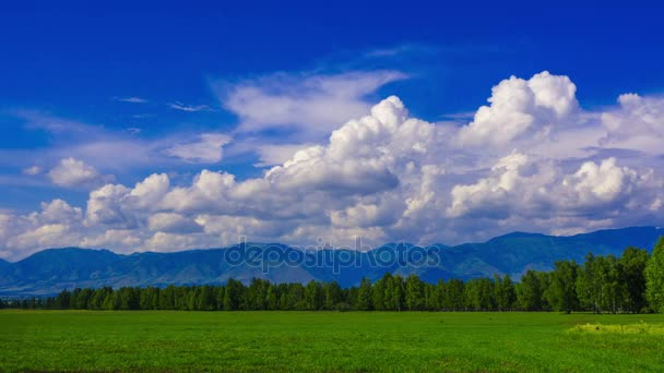 Mountains and clouds. Mountain Altai. timelapse