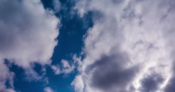 Clouds fly across the sky. timelapse