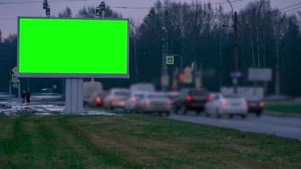 Billboard zelená obrazovka u dálnice