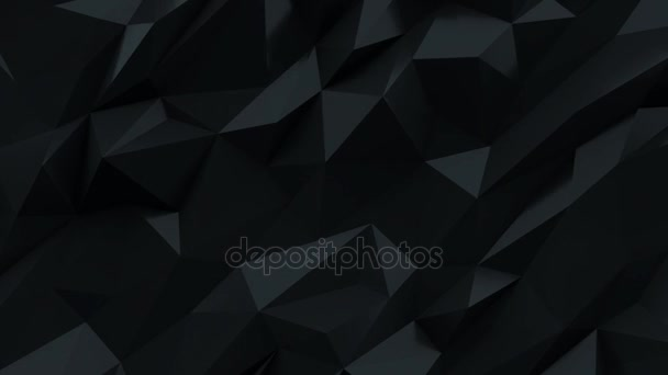 Černé pozadí. Abstraktní trojúhelník textura.