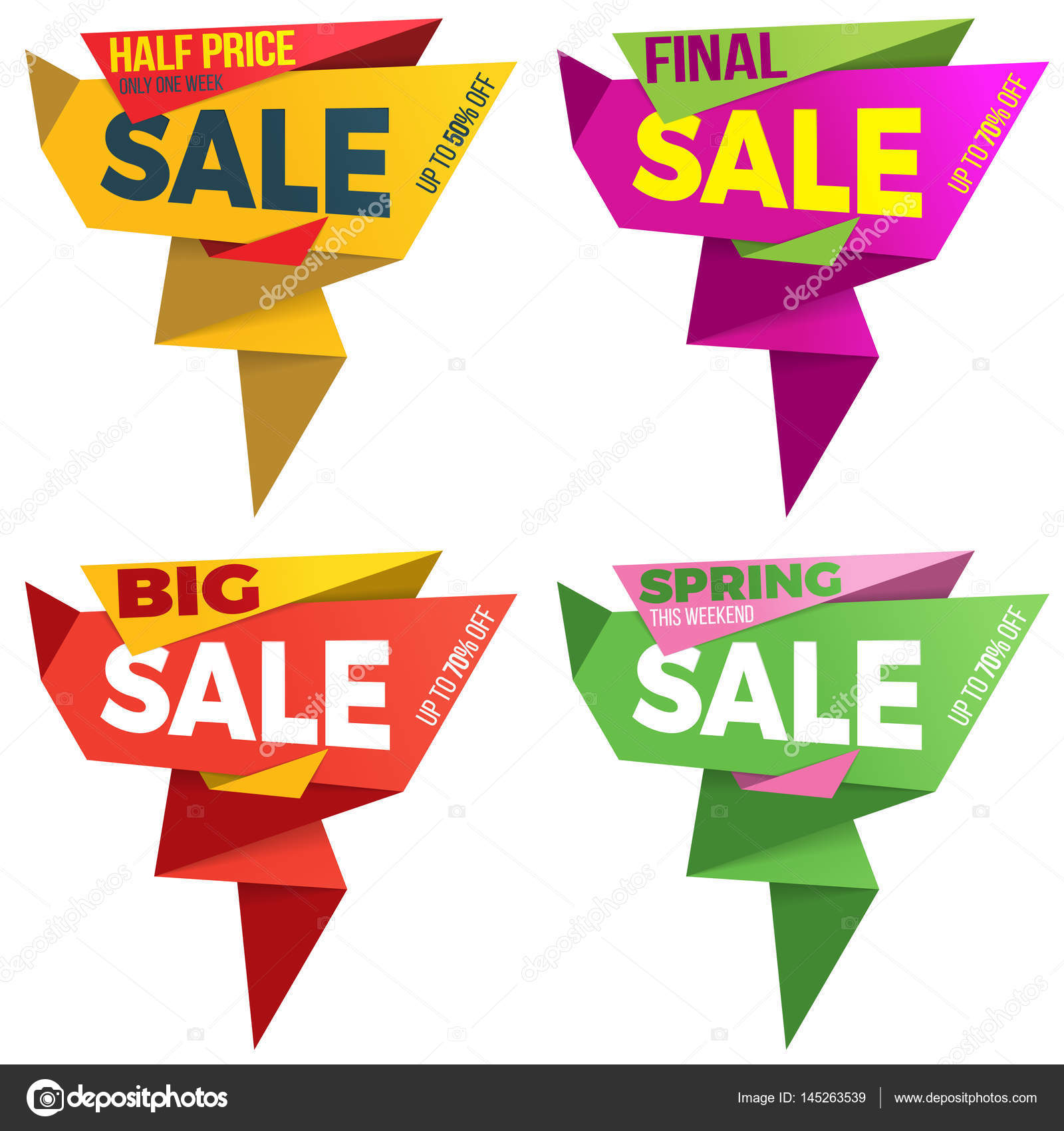 Sale label price tag banner badge template sticker design  — Stock