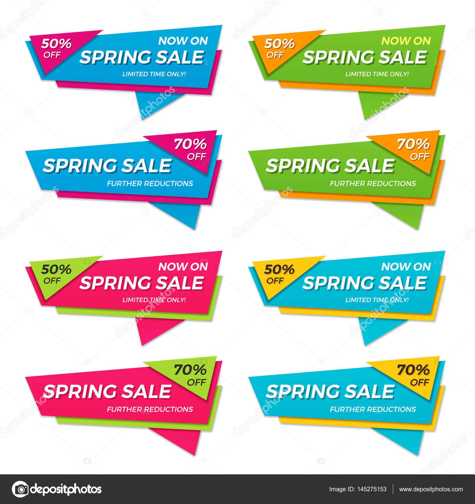 春販売ラベル価格タグ バナー バッジ テンプレート st のセット