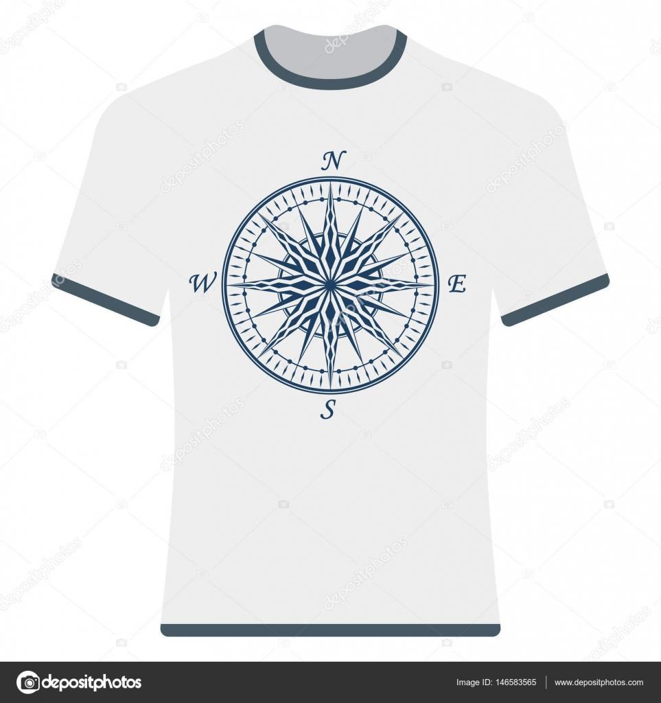 a39e6131d00b Vintage Ανεμολόγιο t-shirt — Διανυσματικό Αρχείο © revelstockart ...
