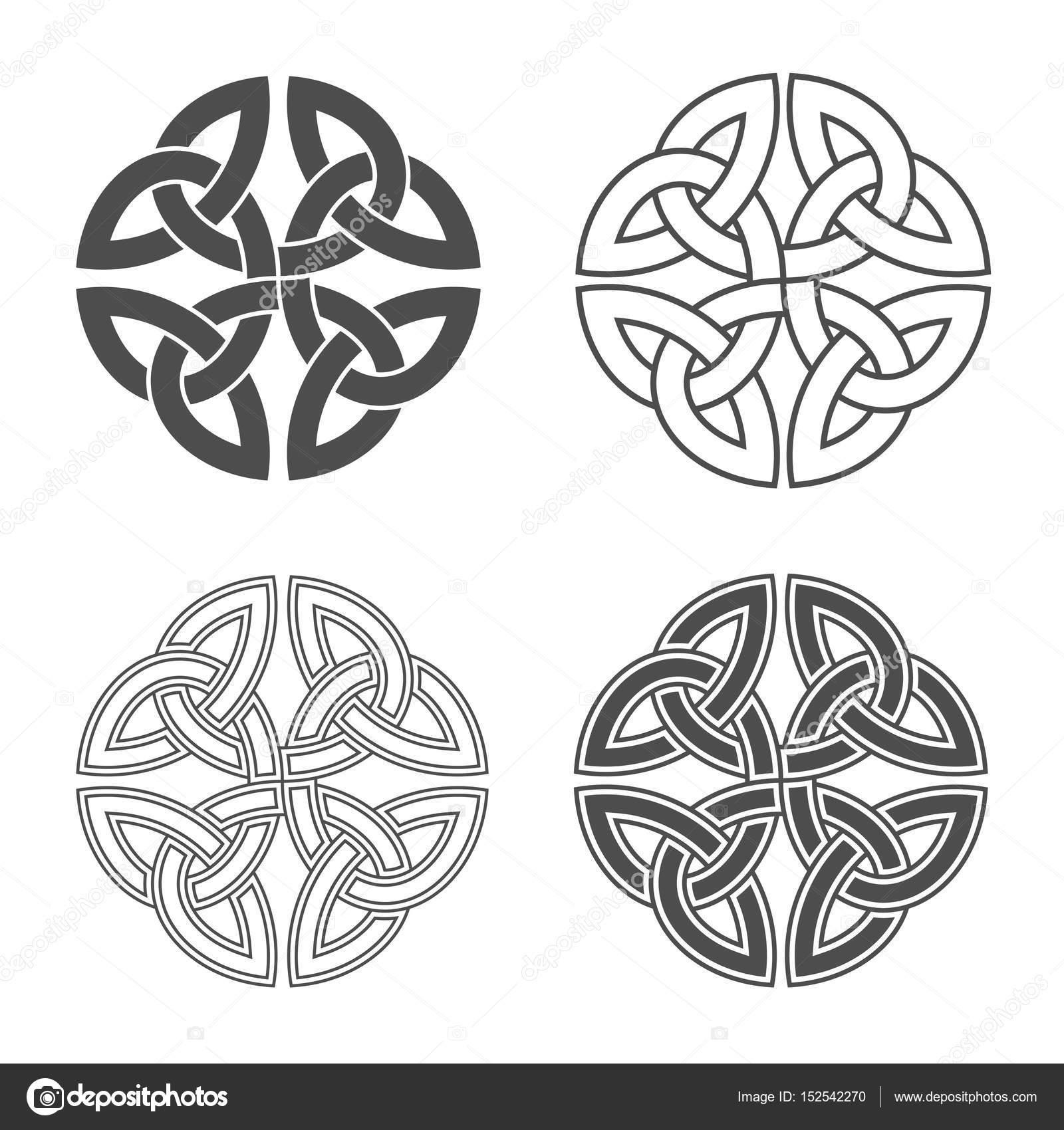 Nudo celta de vector. Adornos étnicos — Archivo Imágenes Vectoriales ...