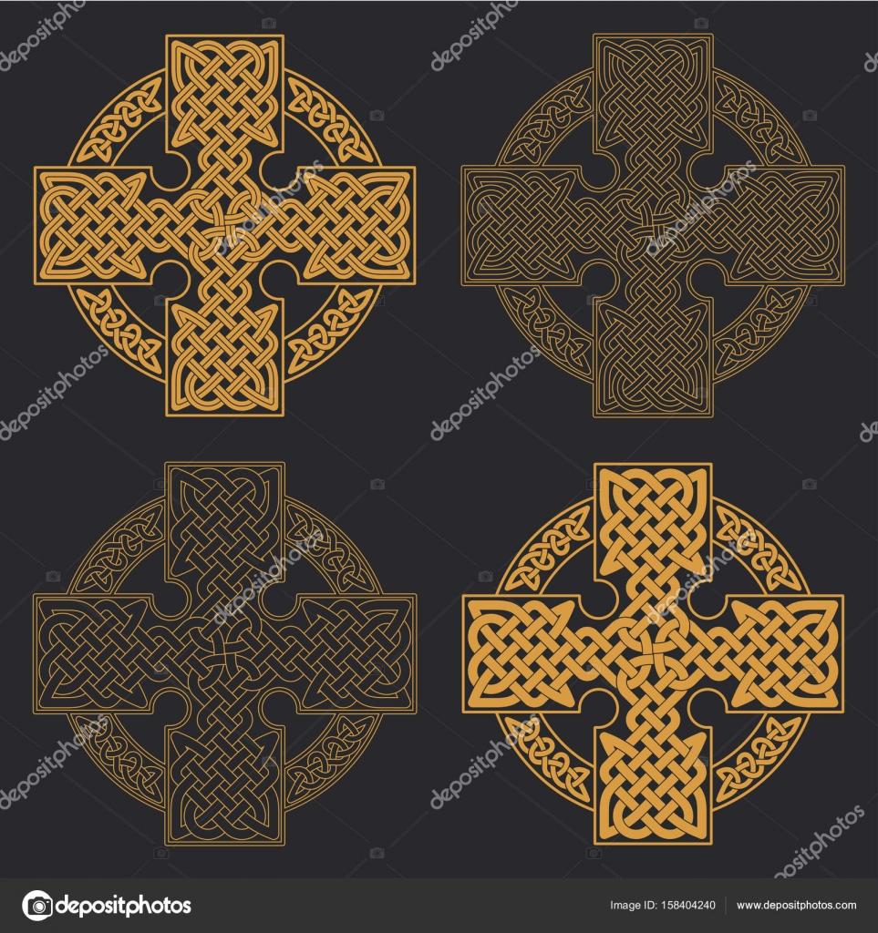 Krzyż Celtycki Wektor Etniczne Ornament Geometryczny Wzór T Shirt