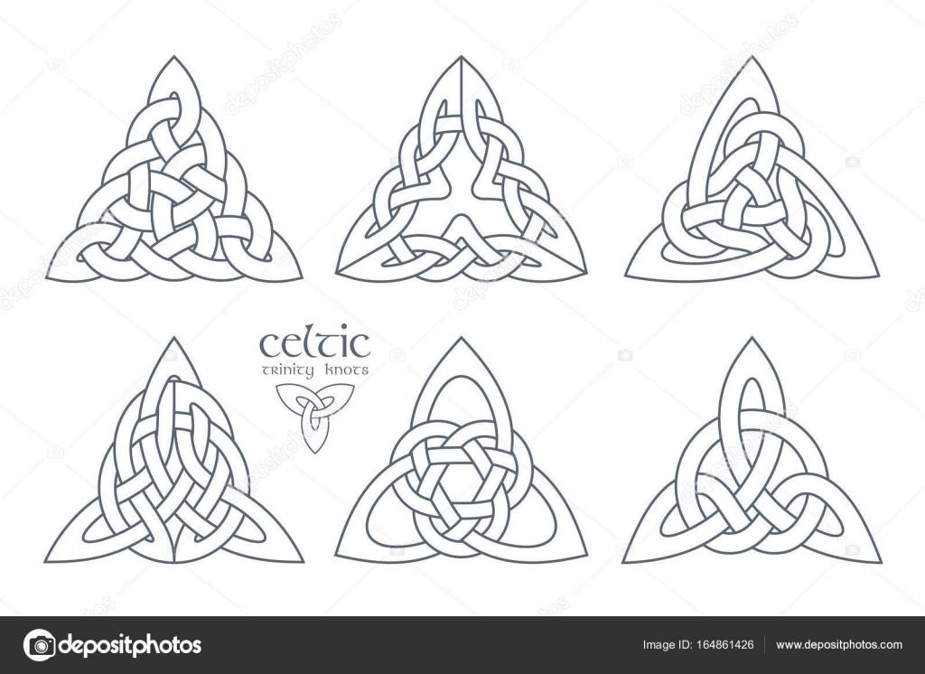 Vector Trinidad celta nudo la parte 2. Ornamento de la etnia ...