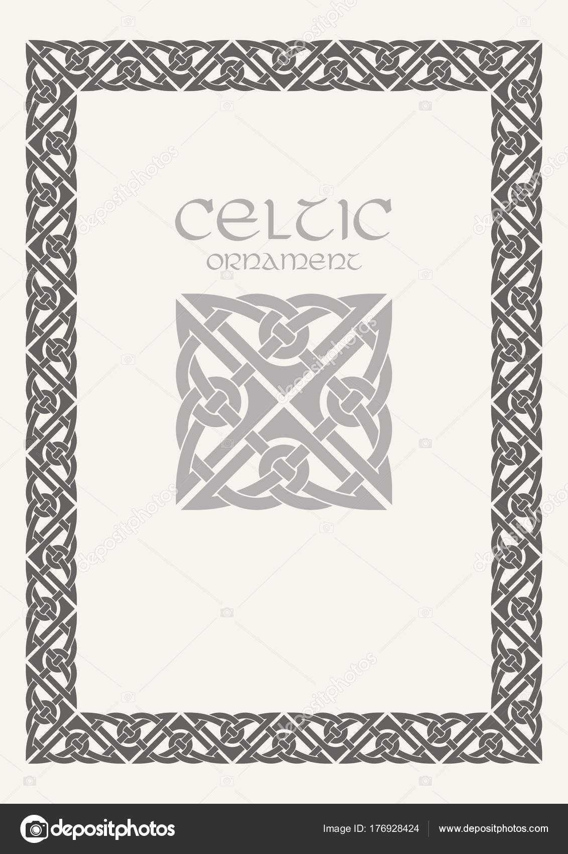 noeud celtique tress ornement de bordure de cadre format. Black Bedroom Furniture Sets. Home Design Ideas
