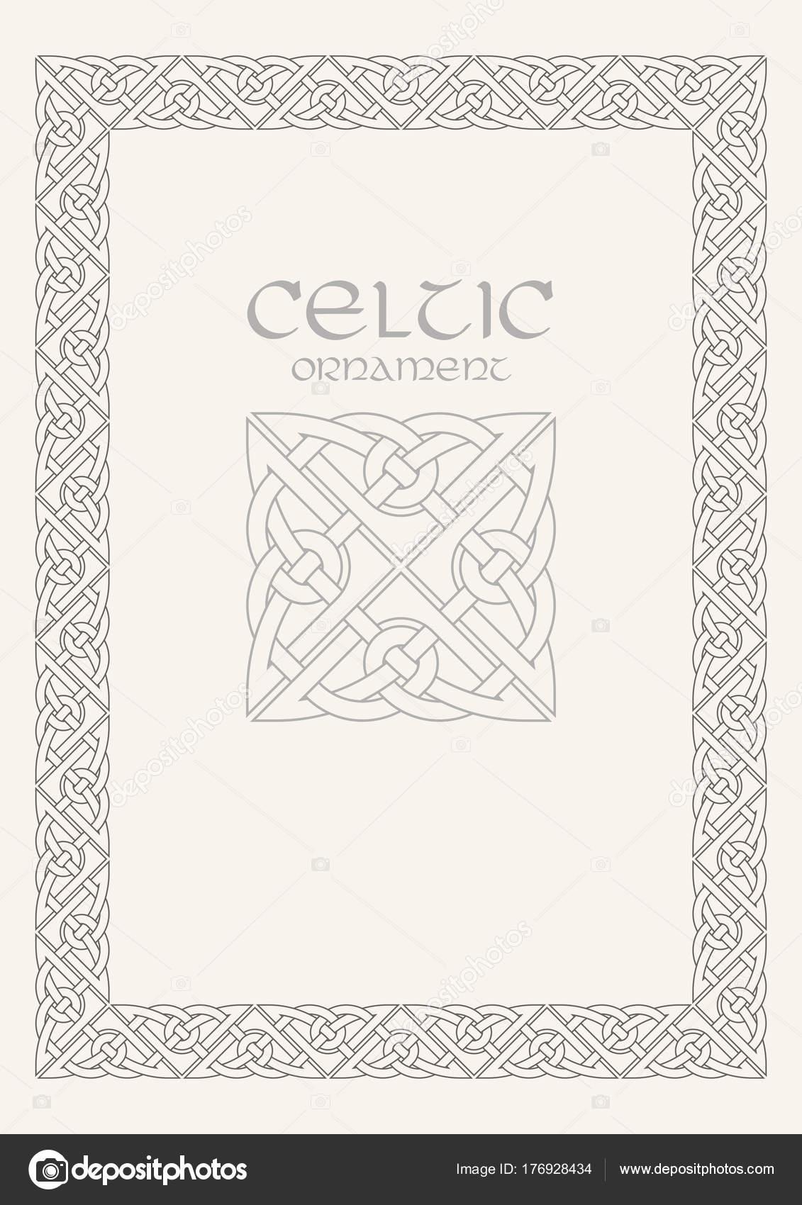 Celtic knot braided frame border ornament a4 size stock vector celtic knot braided frame border ornament a4 size stock vector yadclub Images