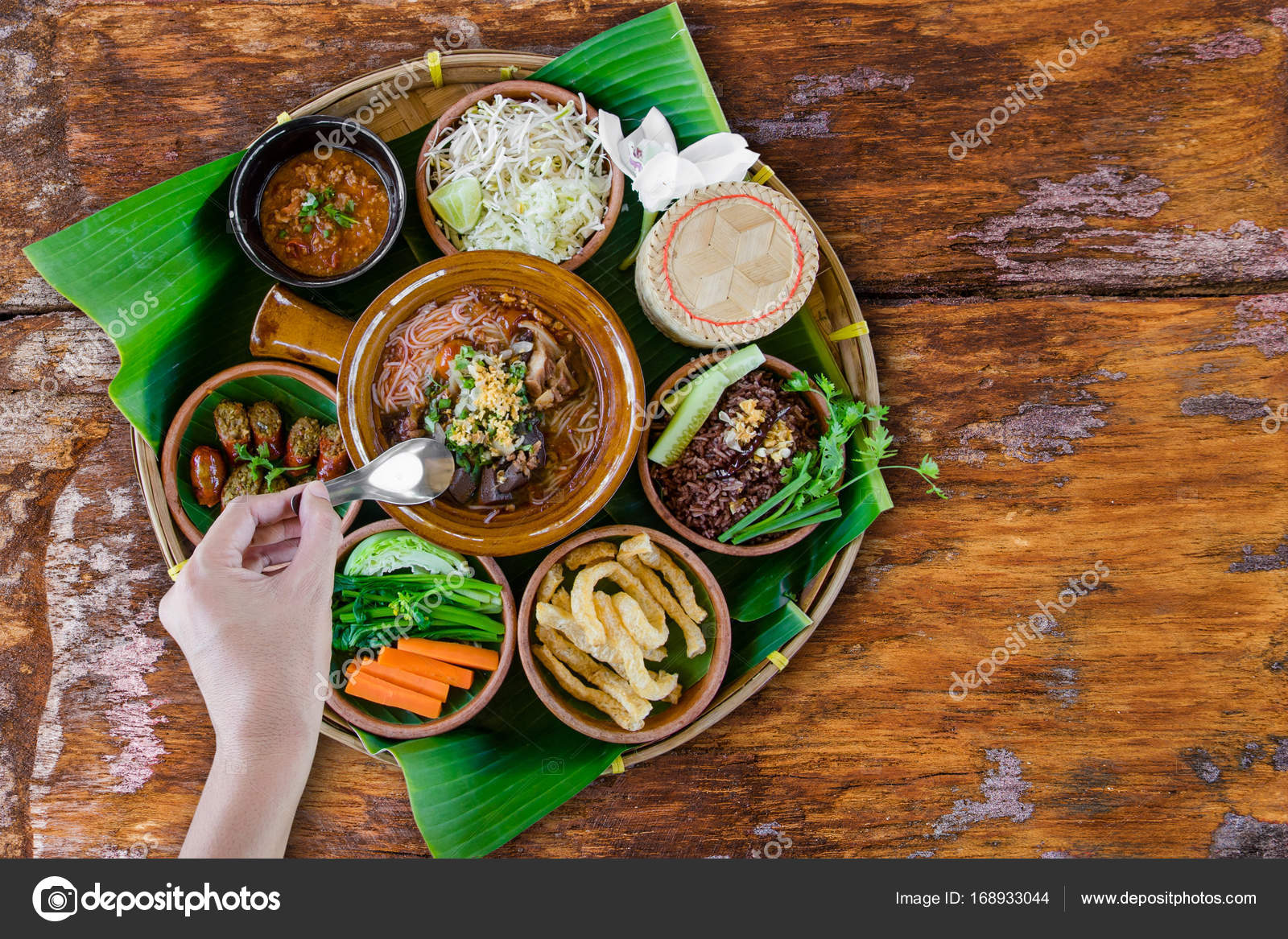 Hagyom ny szak thai food stock fot pritsadee 168933044 for Stock cuisine saint priest