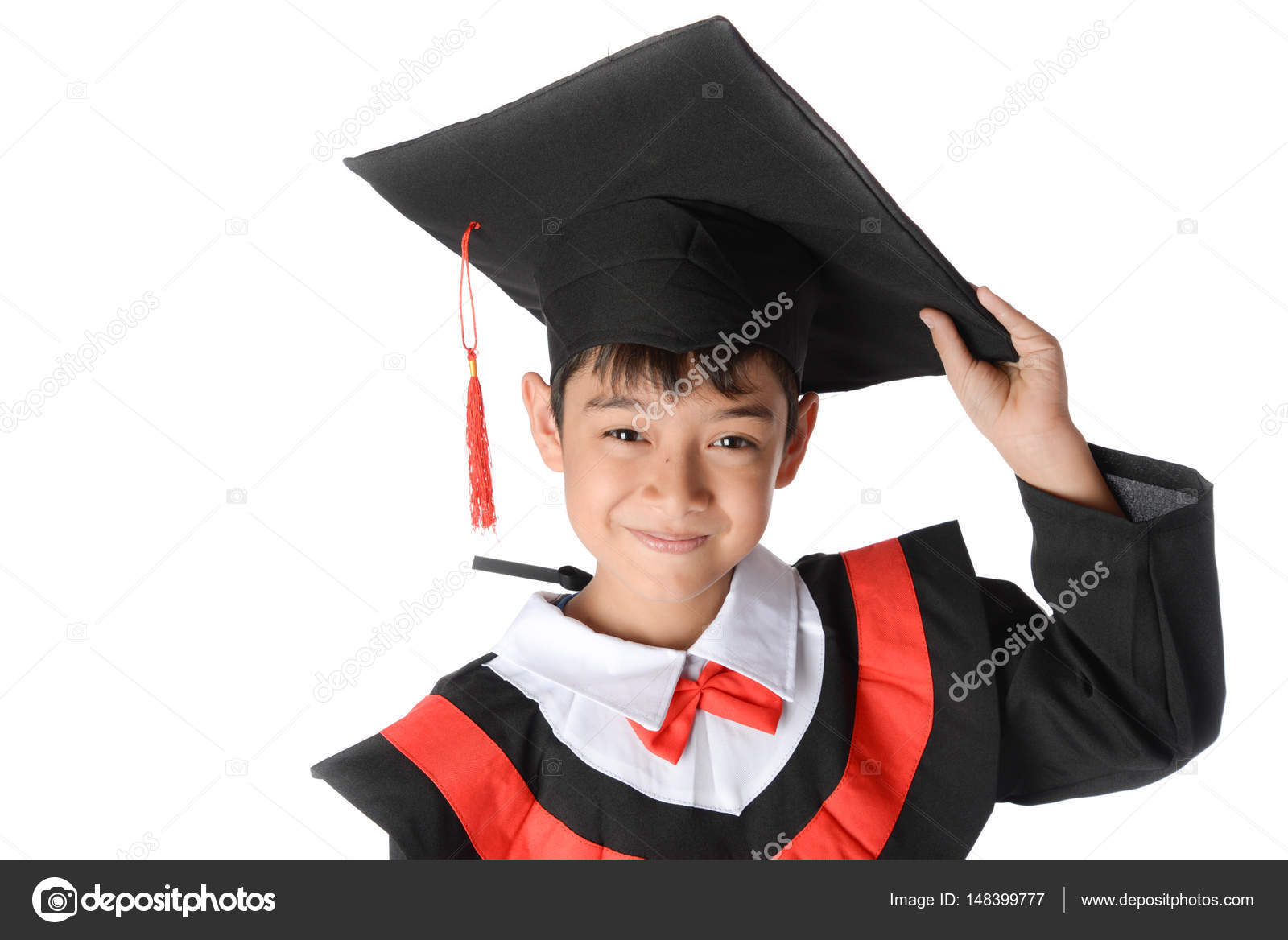 Boy in Graduation Gown Bachelor Robe Cap Academic Dress Kids Cosplay ...