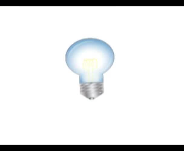2d animace třepání a lámání žárovky a motýla z ní vychází