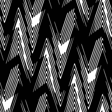 Full Seamless Modern Abstract Pattern Vector. Classic Black and White Design Fabric Print Background illustration for textile.