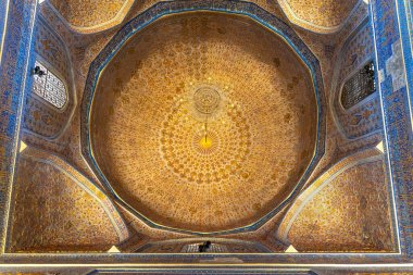 Exterior of the old ancient uzbek tomb  Amir Temur maqbarasi, Gori Amir in Uzbekistan.