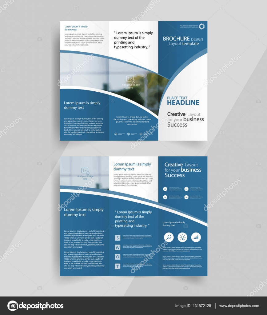 Business tri fold brochure layout design template stock vector business tri fold brochure layout design vector for editable a4 brochure template vector by tcdesign accmission Choice Image