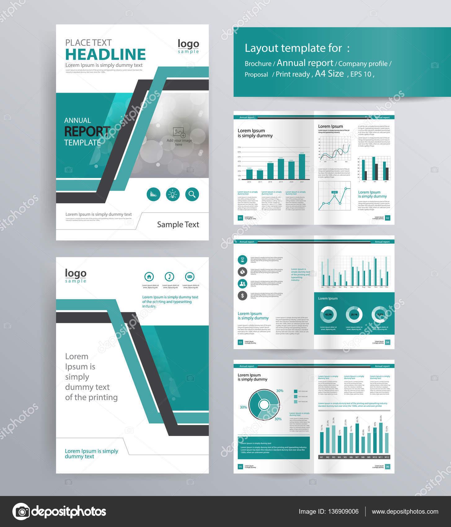 Firmenprofil, Geschäftsbericht, Broschüre und Flyer-Layout-Vorlage ...
