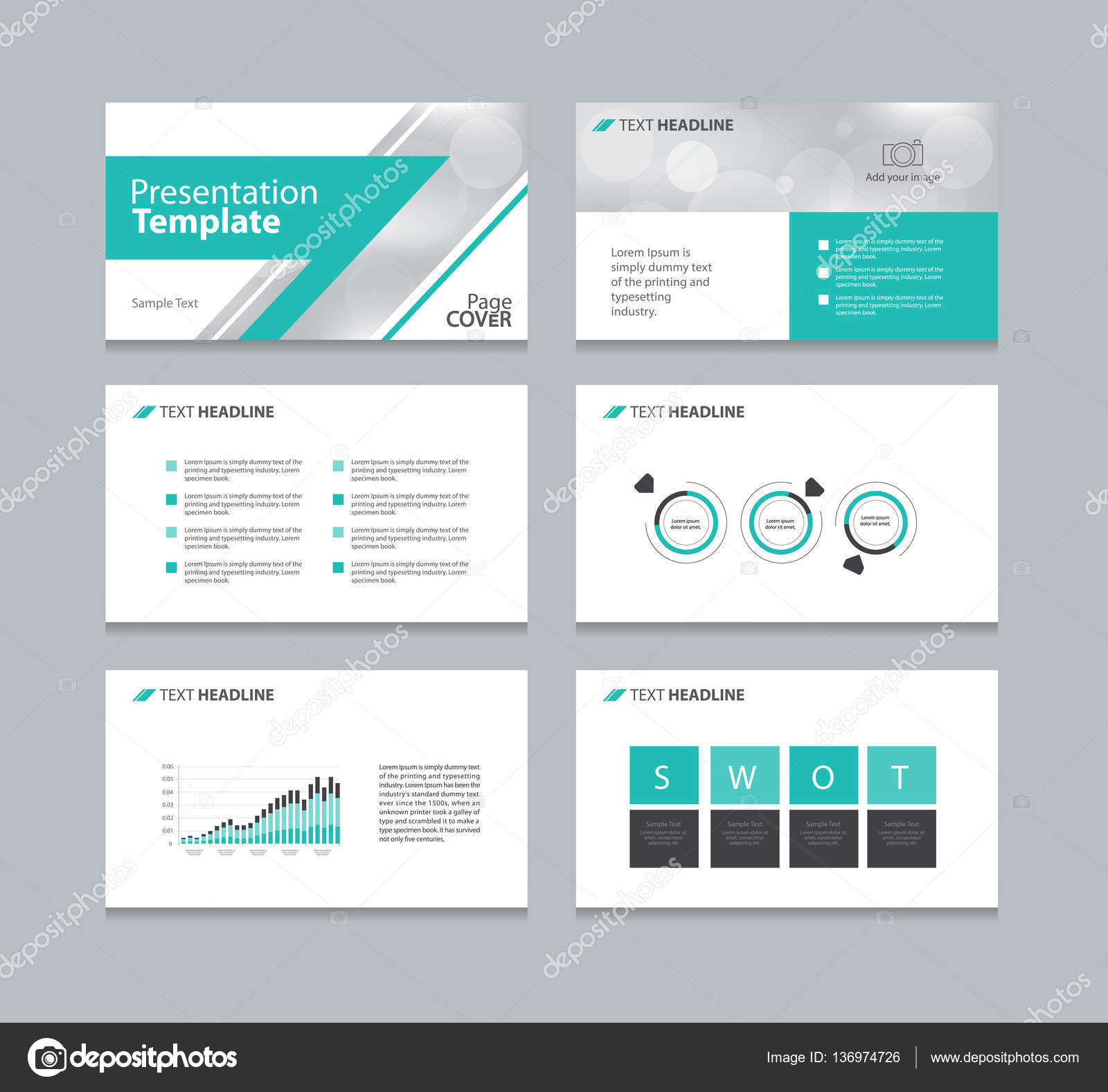business presentation design template with info graphic design
